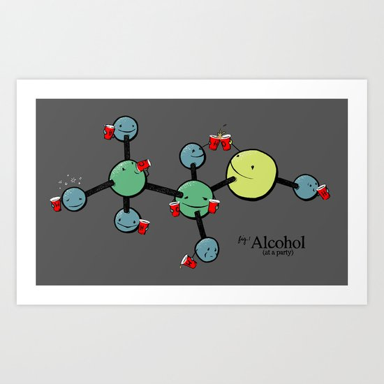 Molecular Bonding Art Print