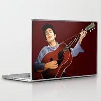 bob dylan Laptop & iPad Skins featuring Bob Dylan by Derek Donovan
