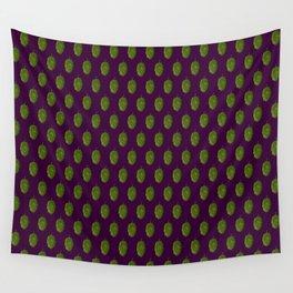 Hops Dark Purple Pattern Wall Tapestry