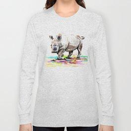 Sudan the last male northern white rhino Long Sleeve T-shirt