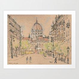 parlament of Hungary Art Print