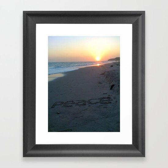 Peace on the Beach Framed Art Print