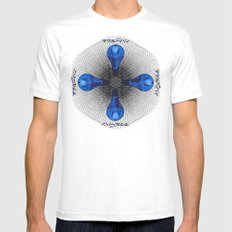 Pure Info MEDIUM Mens Fitted Tee White