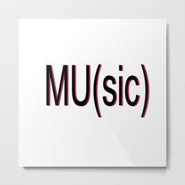 Music or MU relationship Metal Print