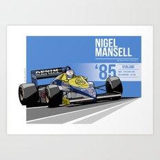 Nigel Mansell - 1985 Kyalami Art Print