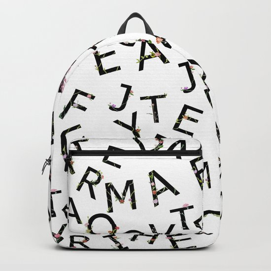 Letters Pattern Backpack