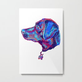Scribble dog Metal Print