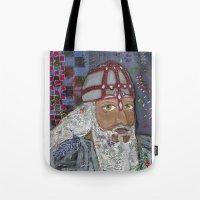 viking Tote Bags featuring Viking by Shana Conroy aka Wisccheeto
