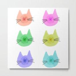 Cat Butt Head Metal Print