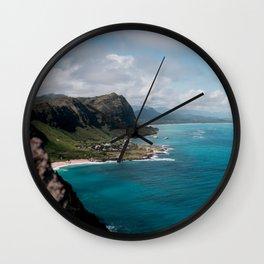 Hawaii Coast line Wall Clock