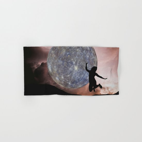 DANCING WITH THE MOON Hand & Bath Towel
