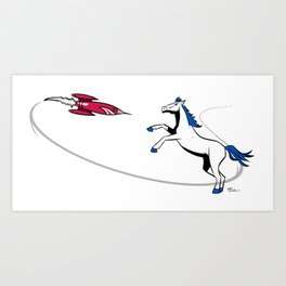 Rockets vs Mavericks Art Print