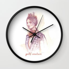 Gold couture Wall Clock