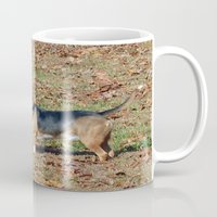 beagle Mugs featuring Beagle by Frankie Cat