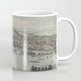 Vintage Pictorial Map of Albany NY (1853) Coffee Mug