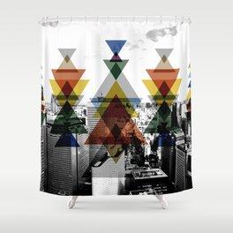 City totem Shower Curtain