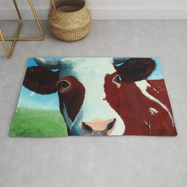 Animal - Daisy the Cow - by LiliFlore Rug