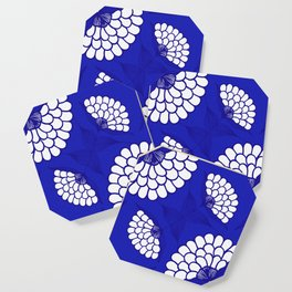 African Floral Motif on Royal Blue Coaster
