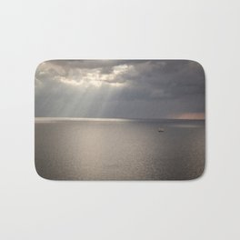 Ship on the Sea Bath Mat