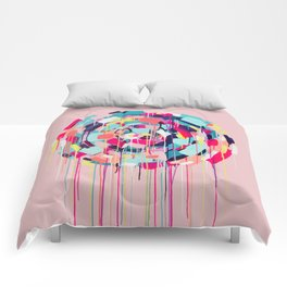 Odessa - Abstract painting #society6 Comforters