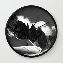 The Needles of the French Alps Wall Clock