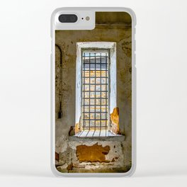 Behind Steel Bars Clear iPhone Case