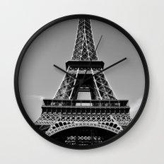 Tower Eiffel En Noir Wall Clock