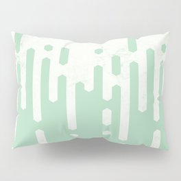 Marble and Geometric Diamond Drips, in Mint Pillow Sham