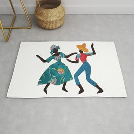 Dancing Lady and Man Rug