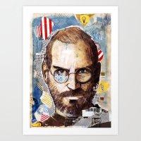 steve jobs Art Prints featuring Steve Jobs by Mariogogh