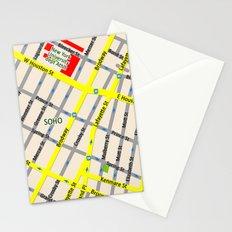 NEW YORK map design - SOHO area Stationery Cards
