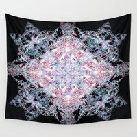 snowflake Wall Tapestries featuring Snowflake. by Assiyam