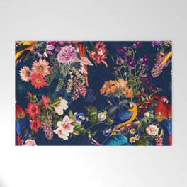 FLORAL AND BIRDS XII Welcome Mat