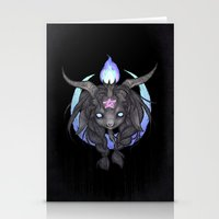 baphomet Stationery Cards featuring Baphomet V2 by Savannah Horrocks