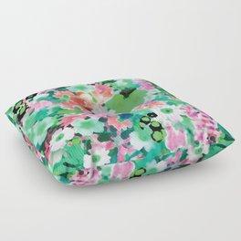 Spring Green Watercolor Floor Pillow