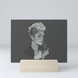 Frankenstein's Smoker - Zombie Girl Smoking Halloween Mini Art Print