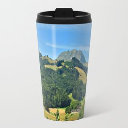 Swiss Alps summer landscape Travel Mug
