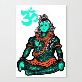 """Lord Shiva""colors Canvas Print"