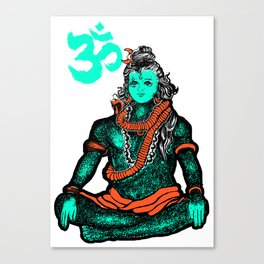 """Lord Shiva""colors Canvas Print"