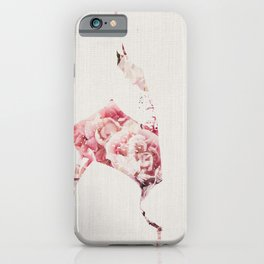 Flowery Woman Silhouette iPhone Case