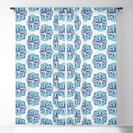 Journey to Moon Mountain | Turquoise Navy Ombré Blackout Curtain