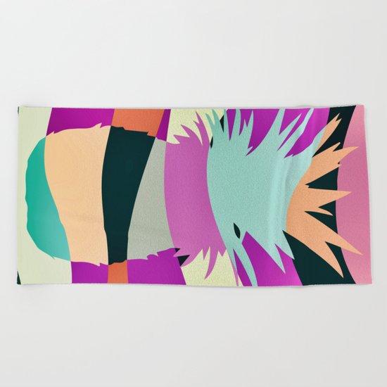 Sliced Ananas Beach Towel