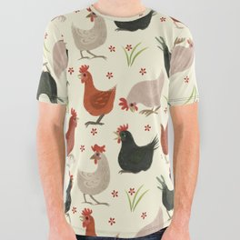 CHICKEN LADIES All Over Graphic Tee