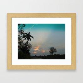 Sunset in the Pasture Framed Art Print