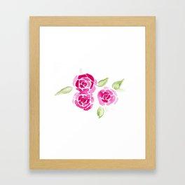 Cheerful Rose Framed Art Print