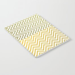 Geometric Lines Pattern Yellowish Notebook