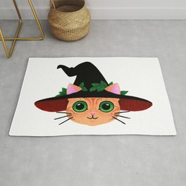 Witch hat cat Rug