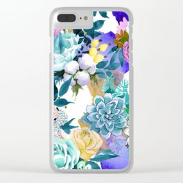 Floral Patterns in Contemporary Designs and Colors Clear iPhone Case
