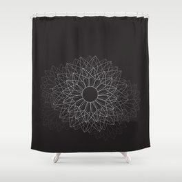 Spiral #abstract #dark Shower Curtain