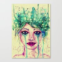 goddess Canvas Prints featuring Goddess by Misrella
